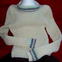 Hand knitted fair isle sweater