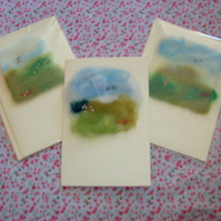 felted card with landscape