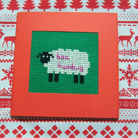 Baa Humbug cross stitch cards