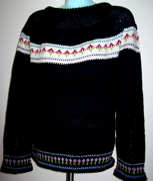 ladies small fair isle jumpers made to order