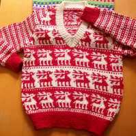 Colourful hand knits for children
