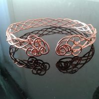 Celtic copper knotwork bangle