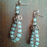 Copper and Opalite earrings