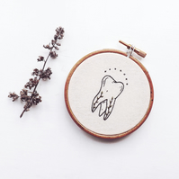 vintage botanical tooth embroidery