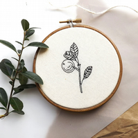 winter berry embroidery