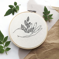 botanical hand embroidery