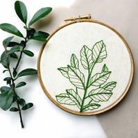 botanical leafy embroidery
