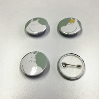 Moomin badges set of four 25mm