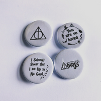 Harry Potter set of four badges