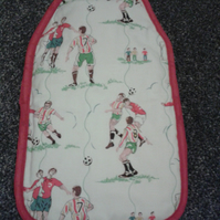 Cath Kidston 'Footballers' Hot water bottle cover with hot water bottle included
