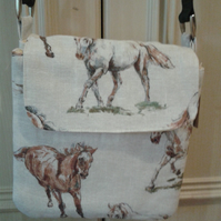 Cross body bag, Horses .