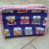 Camper van wash bag, cosmetic bag, toiletry