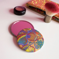 Tropical Pattern Pocket Mirror