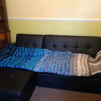 Hand knitted mermaid tail