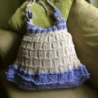 Hand knitted sweater bag