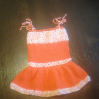 Hand knitted sun dress