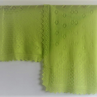 Lime Merino Wool Scarf