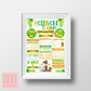 Colourful Zoo Animal Themed First Birthday Chalkboard Poster