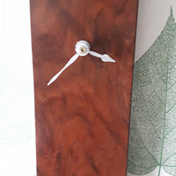 Walnut Veneer Wall Hanging Clock