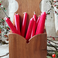 Reclaimed Mahogany Candle Kitchen Utensil What Not Box