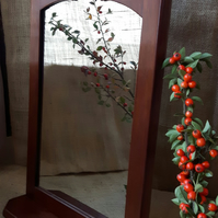 Reclaimed Mahogany Gothic Medieval Shelved Mirror