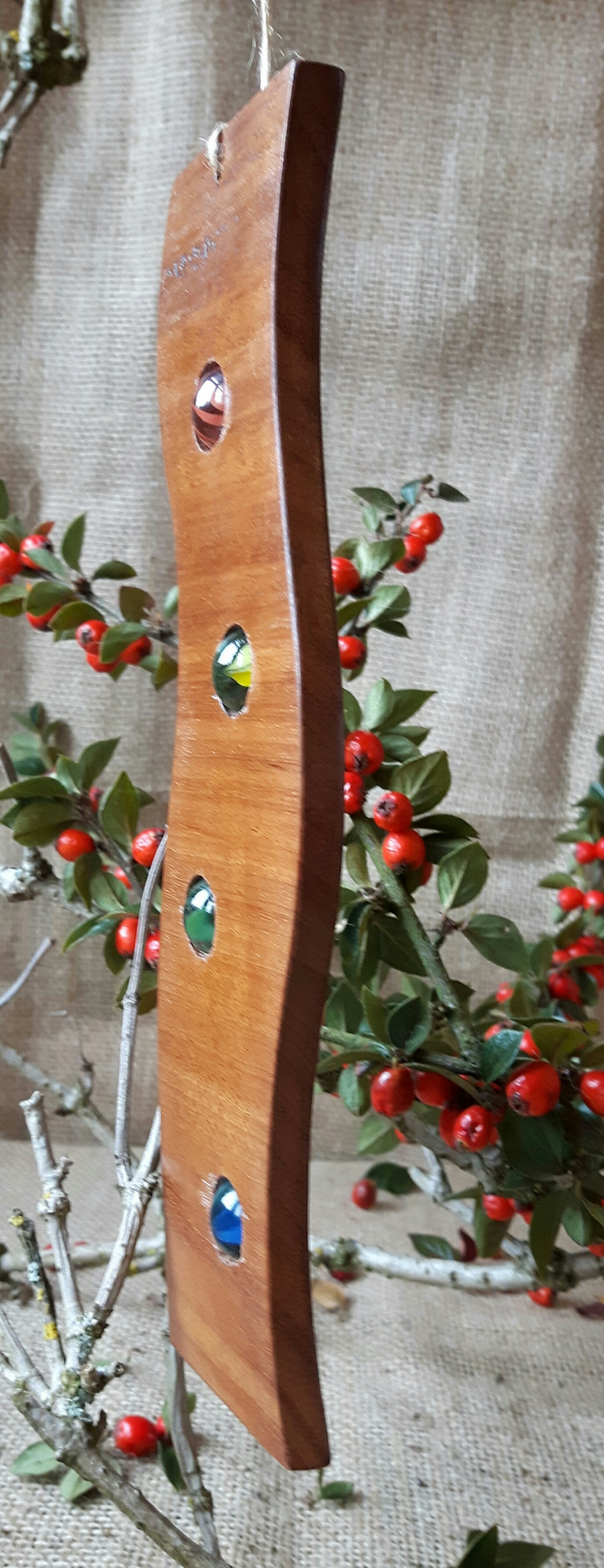 Reclaimed Mahogany Marble Sun Catcher Mobile