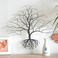 Luxury Walnut art, original Bonsiree,wire tree, handmade decoration, wall art