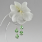 Peridot green earrings, Swarovski Crystal Silver tiny drop earrings,