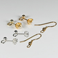 x33 pairs ear fittings, Gold & silver plated ear wires & stud fittings, De-stash