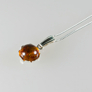 SALE! Amber pendant, Sterling Silver Amber pendant and chain, Christmas gift