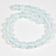 10mm Reconstructed Moonstone, x25 gemstone round beads, Jewellery supplies