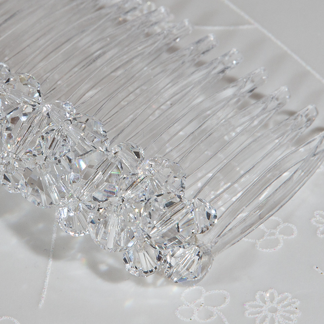 SALE! 7cm Swarovski® hair comb, Crystal wedding comb, Veil comb, Prom