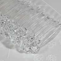 Swarovski hair comb, Crystal wedding comb, Veil comb, Prom