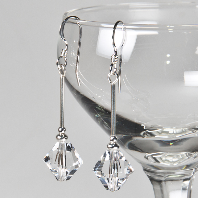 SALE! Swarovski® Crystal bridal earrings, Crystal drop earrings, Prom jewellery