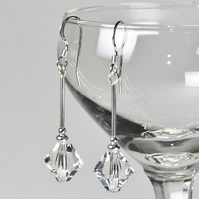 Swarovski® Crystal bridal earrings, Crystal drop earrings, Prom jewellery