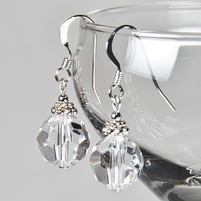 SALE! Crystal bridal earrings, Swarovski® Crystal wedding earrings, Prom