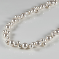 Pearl necklace, Swarovski® bridal necklace, Wedding or prom jewellery
