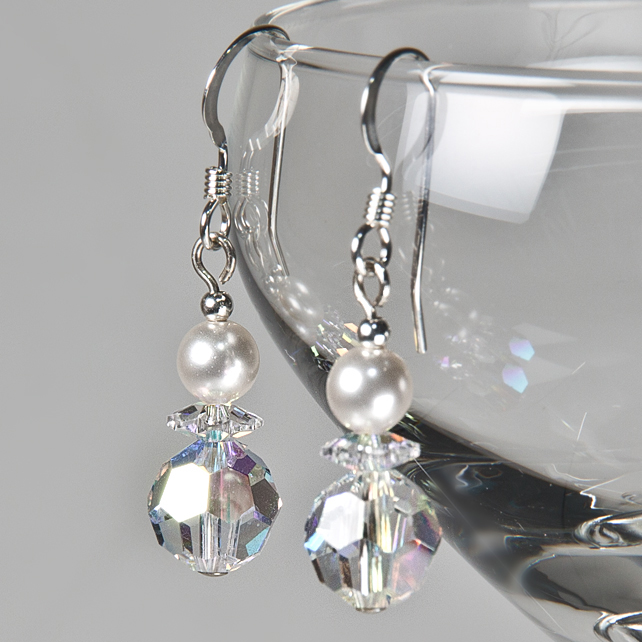 SALE! Crystal AB earrings, Swarovski® bridal earrings, Wedding or Prom jewellery