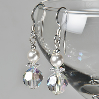 Crystal AB earrings, Swarovski® bridal earrings, Wedding or Prom jewellery