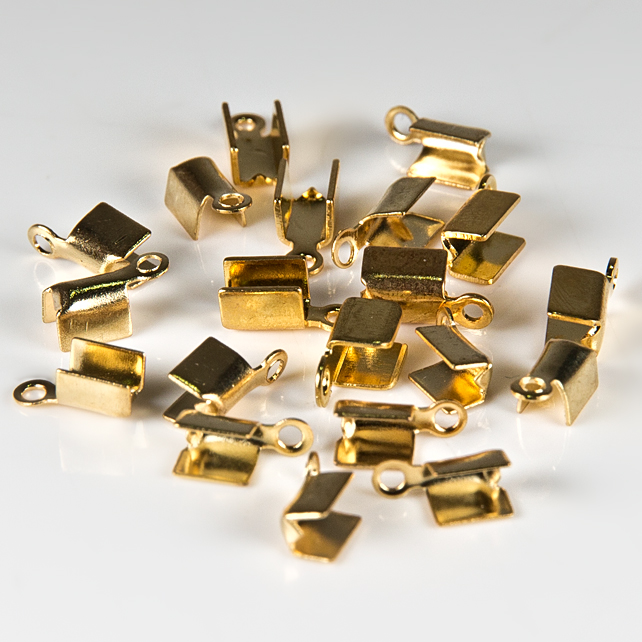 SALE! 20 end fasteners, Gold plated folding end fasteners, Jewellery supplies
