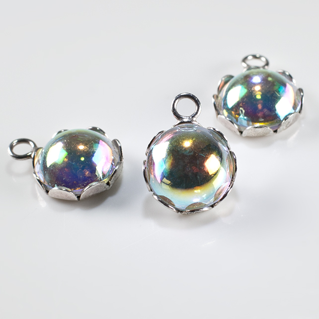 SALE! 3 Swarovski® Sterling Silver pendants, Crystal & silver dangles, Supplies