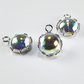 3 Swarovski® Sterling Silver pendants, Crystal & silver dangles, bead supplies