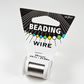 2 reels beading wire, 34 gauge silver plated beading wire, jewellery supplies