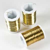 SALE! 3 reels beading wire, Gold Plated 34 gauge wire, jewellery supplies