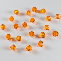 20 Swarovski® Crystals, 4mm 'Sun' bicone crystals, beads, jewellery supplies