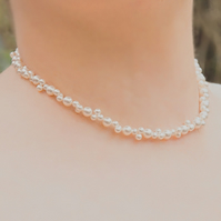 SALE! Pearl necklace, Swarovski® bridal necklace, Wedding or prom jewellery