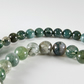 x60 Moss Agate, 6mm & 8mm gemstones, string of beads, supplies