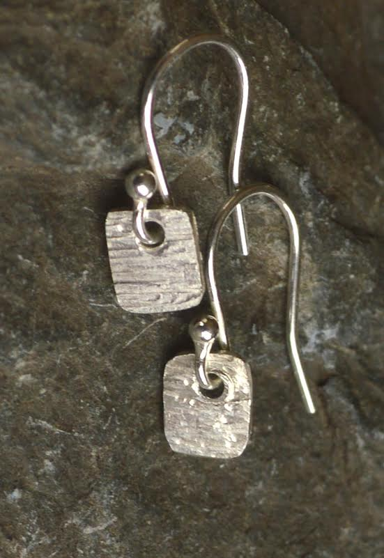 Sterling Silver Tiny Square Earrings