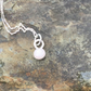 Pink Opal Gemstone set in Sterling Silver Pendant