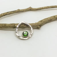 Handmade Chrome Diopside Sterling Silver Pendant